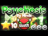 Geometry Dash 2.0 - Dorami laughed :/ 'Psychosis' 100% By Hinds [Very Hard Demon]