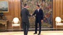Felipe VI transmite a Sánchez su preocupación por Cataluña