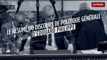 Le résumé du discours de politique générale du Premier Ministre Edouard Philippe