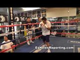 TMT Boxing star Ronald Gavril Putting in work at mayweather boxing club fights sept 14 EsNews Boxing