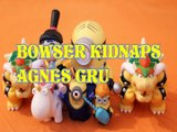 BOWSER KIDNAPS AGNES GRU SUPER MARIO DESPICABLE ME 3 DREAMWORKS MINIONS KART Toys Kids Video