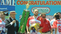 Joey Chestnut Defends Title With A Record 72 Hot Dogs