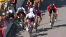 Mark Cavendish suffers horrible high-speed crash after Peter Sagan's intentional elbow!