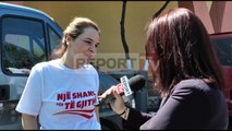 Report TV - Ditëlindja e Monikës në furgonin e regjisë e dhurata nga vajza e vogël