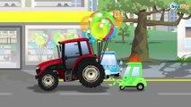 Kids Car - Yellow Bulldozer digging and Excavator | Construction Trucks Cartoons for children