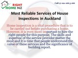 Most Reliable Services of House Inspections in Auckland