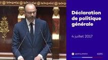 Déclaration de politique générale d'Édouard Philippe (extraits)