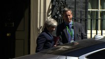 Prime Minister Theresa May leaves Downing Street for PMQ's