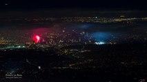 Feux d'artifices du 4 Juillet vus du ciel à Los Angeles !