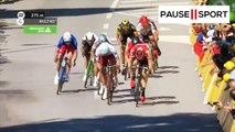 La chute de Cavendish poussé par Peter Sagan lors du Tour de France