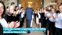 Haie d'honneur pour l'ouverture de l'hôtel de Crillon