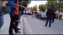 """Ora News – Përplasen dy automjete në rrugën 'Berisha"""", Ora News siguron videon"""