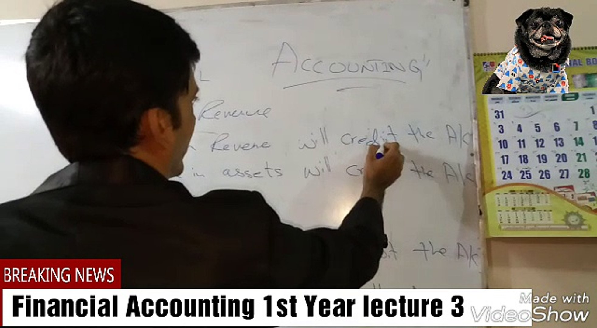 Financial Accounting First Year Lecture 3