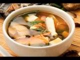 Receta de sopa miso con hongos y tofu   Cómo hacer sopa miso