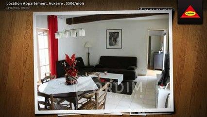 Location Appartement, Auxerre , 550€/mois