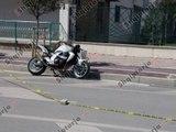 Report TV - Fier, po lëviste me motor afër shkollës, plagos dy fëmijë