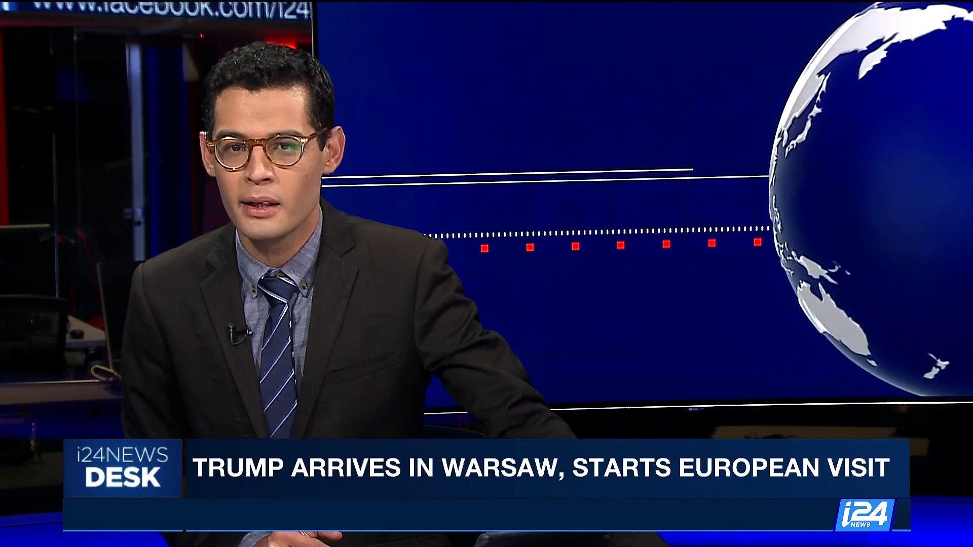 i24NEWS DESK | Trump arrives in Warsaw, starts european visit | Thursday, July 6th 2017