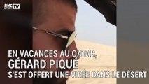 Piqué chute en buggy dans le désert du Qatar