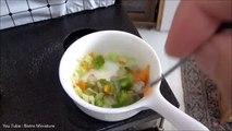 Cuisine Escalope Comment à faire minuscule aliments comestible mini- aliments