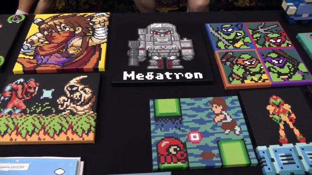 CGE 2014 The 8-Bit Artist Booth - Classic Gaming Expo