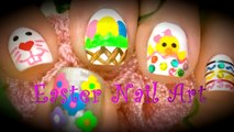✿Easter Nail Art Designs- Spring Flowers, Bunny, Eggs, Baby Chick, Rhinestones & Striping