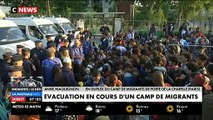 Vaste opération pour déloger plusieurs centaines de migrants installés depuis plusieurs semaines porte de La Chapelle à