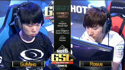 [TW]2017 GSL S3 Code S Ro.32 GroupA Match3:GuMiho(T) v.s. Rogue(Z)(Host:SoBaDRush & Hui)