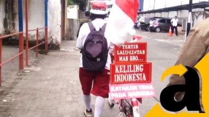 Keliling Indonesia Dengan Sepeda Ontel, Pria Ini Bawa Pesan ....