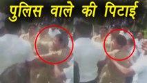 Bengaluru Cop thrashed by BMRCL staff ,बेंगलुरु में  पुलिस वाले की पिटाई | वनइंडिया हिंदी