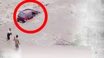 Uttarakhand : Car washed away by flood | Watch Video | Oneindia Kannada