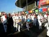 Bandas autour du stade de France avant la finale