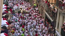 Espagne: première course de taureaux de la San Fermin