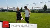 Ophélie Fontana et Cécile De Gernier sur la RTBF pour l'Euro féminin