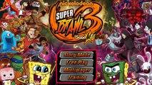 Jogos em Flash 028 - Super Brawl 3 - Bob Esponja, Power Rangers e muito mais num jogo de l