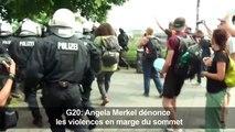 "G20: manifestations violentes ""inacceptables"" (Merkel)"