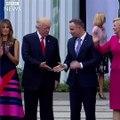 Quand Donald Trump rencontre la Première dame polonaise...