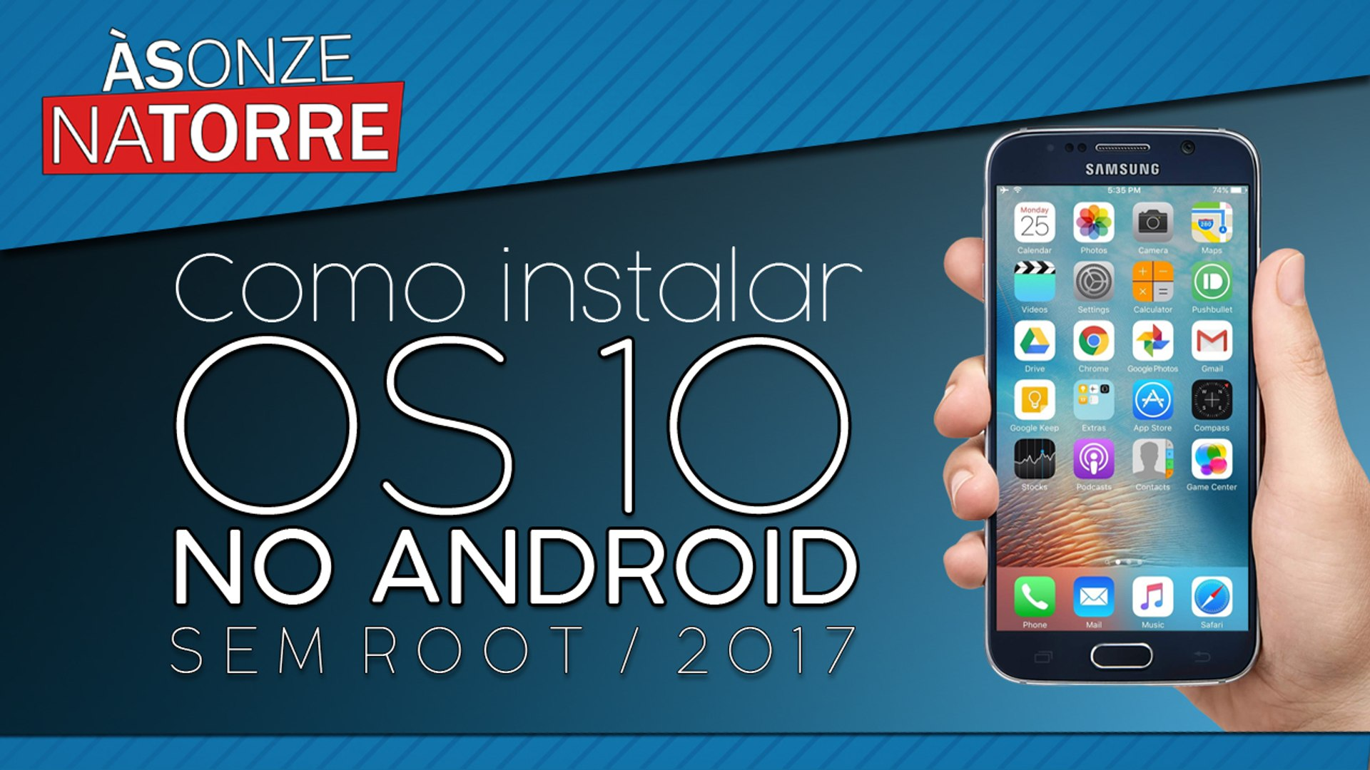 Como instalar OS 10 no Android (sem root) 2017   How to install OS 10 in Android (no root) 2017
