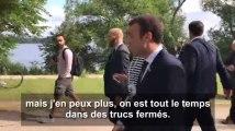 Macron avait visiblement besoin de prendre l'air à Hambourg