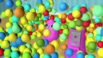 Bolas colección colores color color color huevos huevos huevos chicle Niños máquina canciones sorpresa Aprendizaje de color 3d