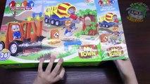 Niños para el bloque hueco juguetes interesantes trabajos de carretera