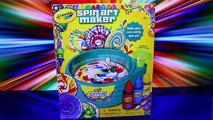 Cra-Z-Art Spinning Art Painting Set CHALLENGE Toy Review Kid Friendly Art Competition Disn