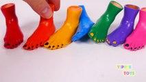 Arc en ciel les couleurs avec les orteils pieds mains et garderie rimes pour enfants Apprendre les couleurs