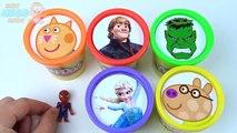 Глина цвета доч Эльза для замороженный замороженные килектор дитя Узнайте Пеппа свинья играть человек-паук