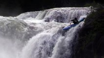 Extreme Kayaking - Kayaking Down Waterfall -Mesa Falls Idaho