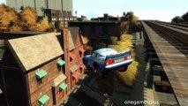 Voiture quatorze Jeu sauts tester Dinoco mcqueen suspendre crash disney gta iv