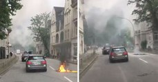Driving Through Hamburg Germany The Morning After G20 Riots