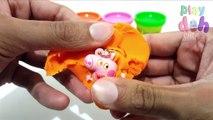 Boîtes des œufs gelé porc jouer jouets Peppa doh surprise mlp surprise cubes