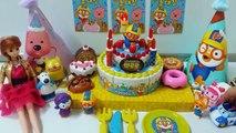 Et gâteau jouet jouets Petit pingouin Pororo attraper un jouet gâteau danniversaire mélodie Frank Pororo Tayo