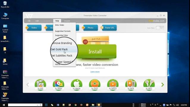 freemake gold pack video converter