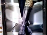 Fishnets and big leather boots